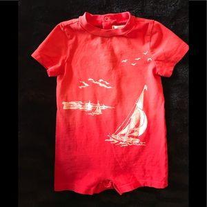 Ralph Lauren red onesie